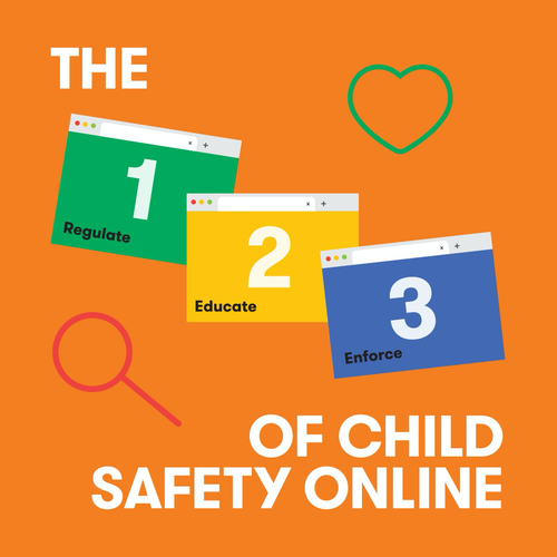 Child Safety Online Campaign flyer